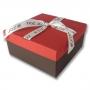กล่องของขวัญ สีแดง-น้ำตาล