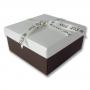 กล่องของขวัญ สีขาว-น้ำตาล