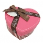 กล่องของขวัญ รูปหัวใจสีชมพู