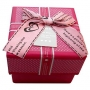 กล่องของขวัญ สีชมพูเข้ม/สีดำลายจุดชมพู