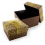 กล่องของขวัญ น้ำตาล-ทอง